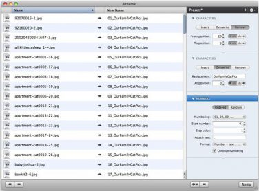 Renamer: rinomina file e directory in una volta sola in modo veloce