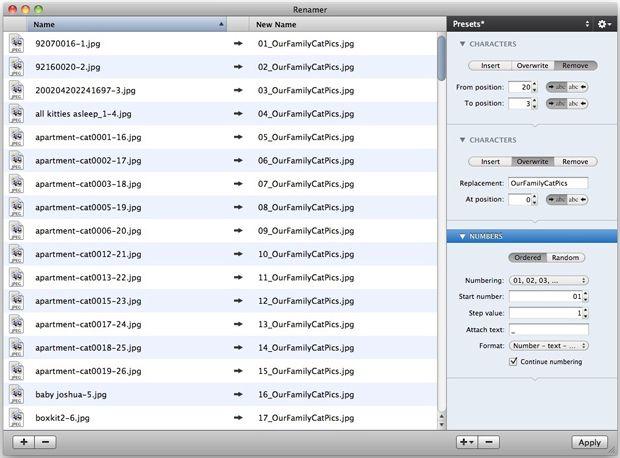renamer app per rinominare file su mac