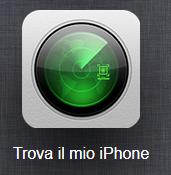 icona trova iPhone iCloud