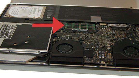 sostituire ram macbook