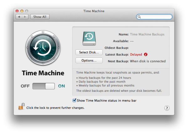 backup mac time machine