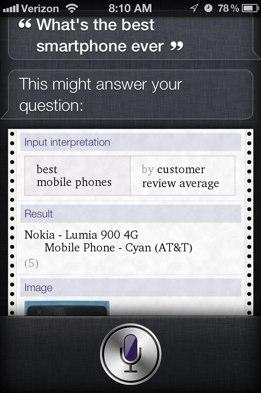 Per Siri Nokia Lumia 900 è il miglior smartphone di sempre