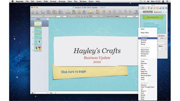 creare transazioni con keynote
