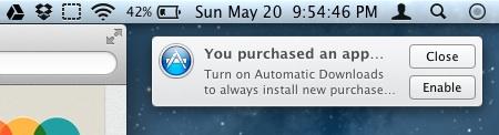 Mac OS X Mountain Lion con la sincronizzazione delle app