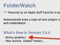 Nel Mac App Store compaiono le App per il Retina Display
