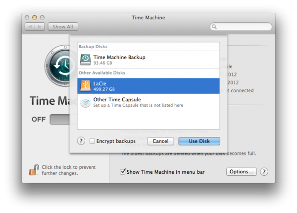 Dischi Time machine backup mac
