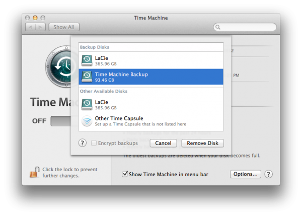 Dischi Time machine backup mac