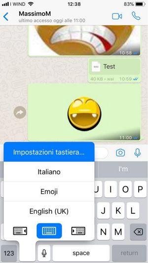 Aggiungere Taastiera ad iPhone o iPad
