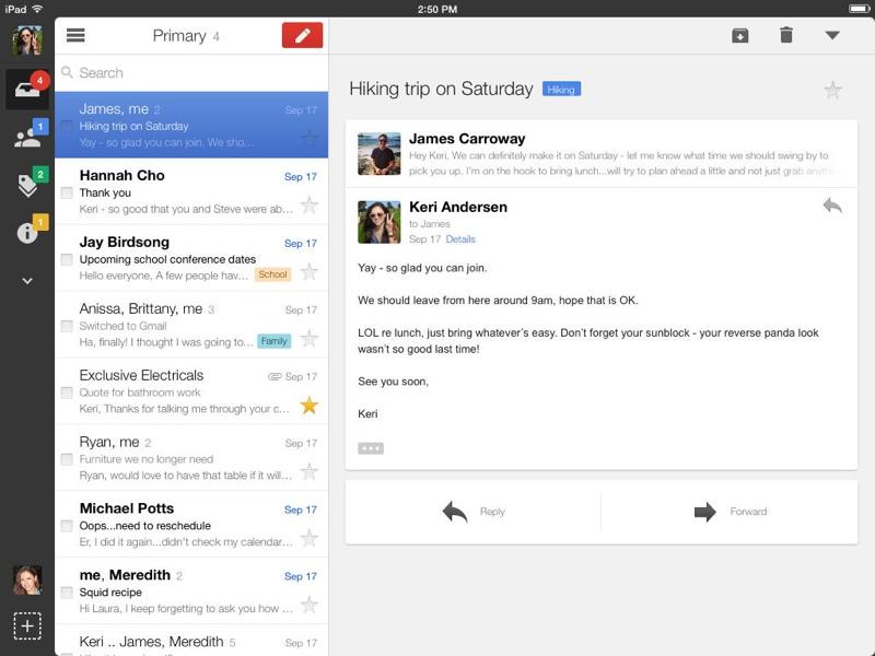 aggiornamento gmail per ios7