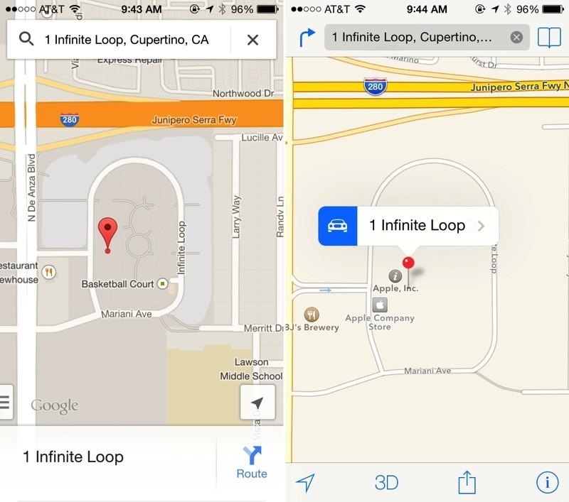 mappe vs google maps