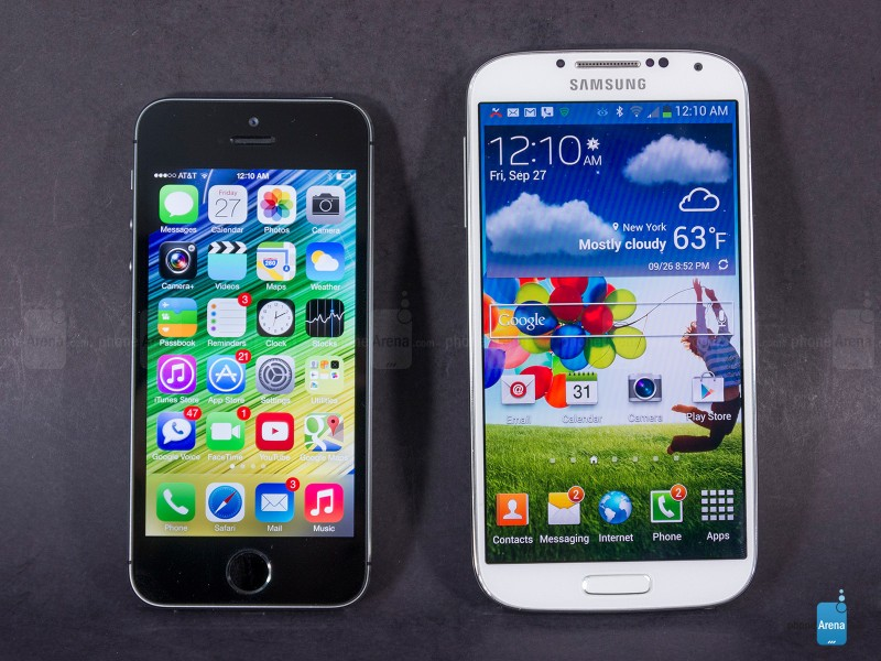 iphone 5s vs galaxy S4