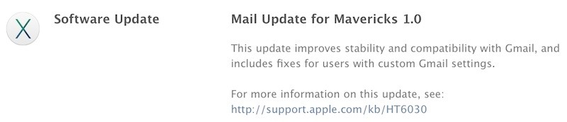 update mail mavericks