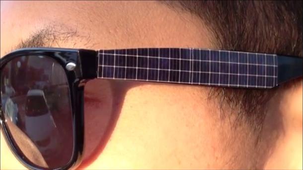 pannelli solari occhiali da sole