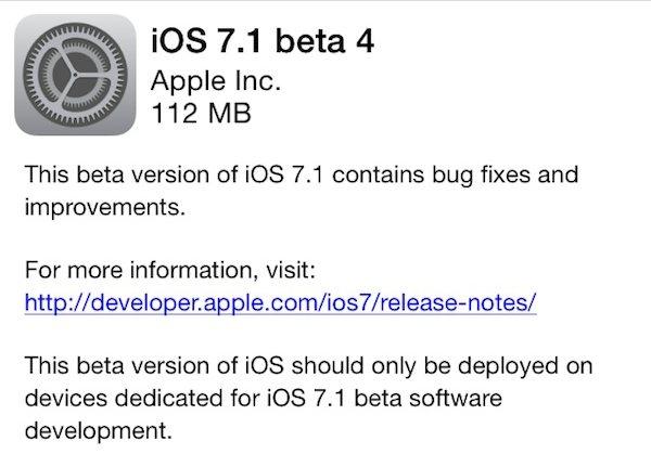 beta 4 ios 7.1