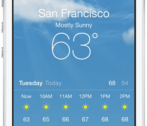 iphone 6 meteo