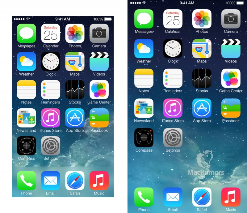 iphone 5S 6 home screen