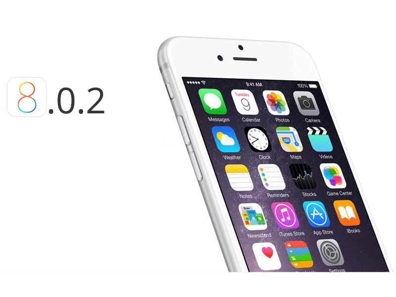 aggiornamento ios 8.0.2
