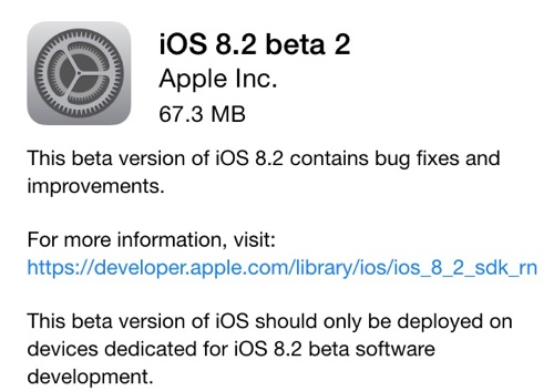 beta 2 ios 8.2