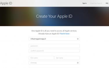 Come creare un Apple ID nuovo e perché