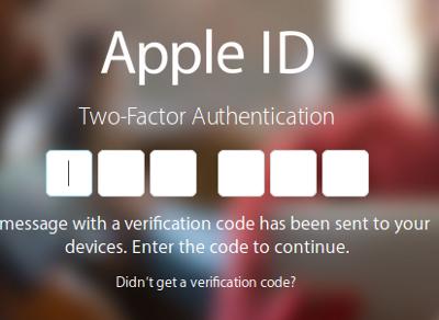 Codice di verifica in due passaggi apple id
