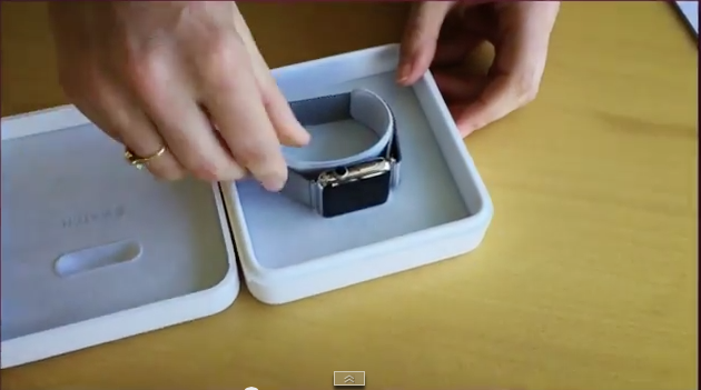unboxing apple watch