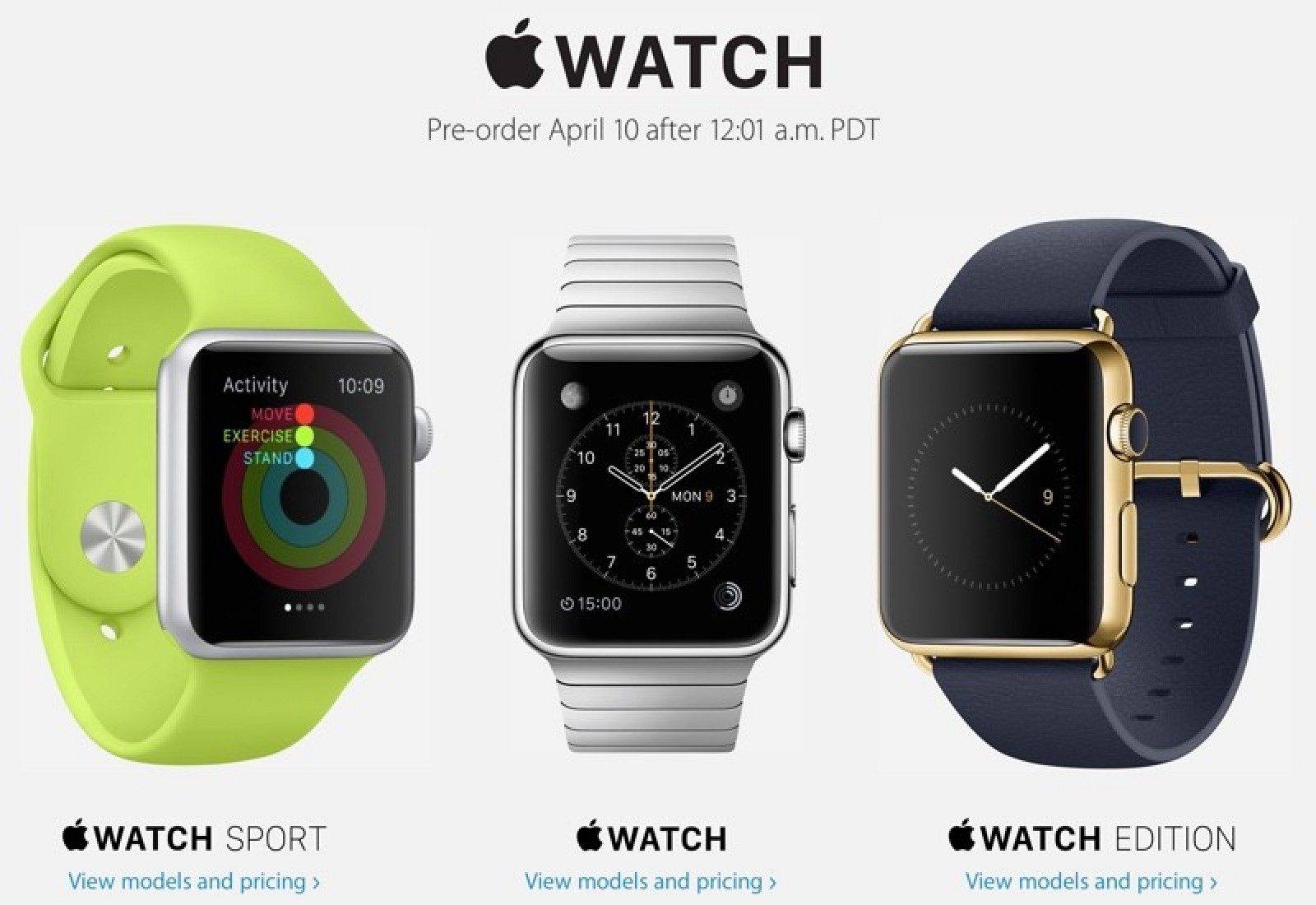 apple watch preordini