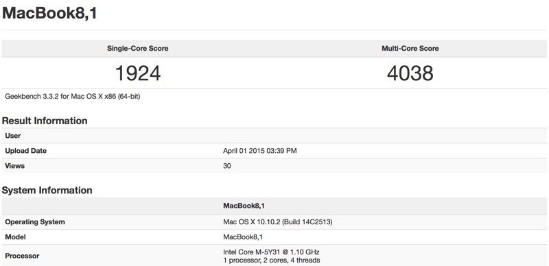 macbook air benchmarks