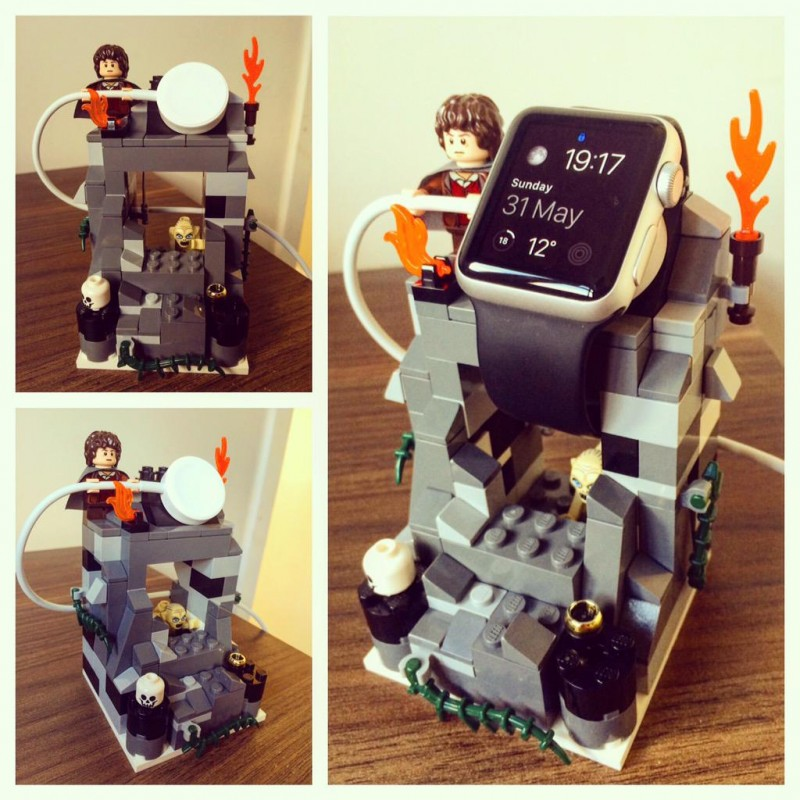 stand apple watch lego