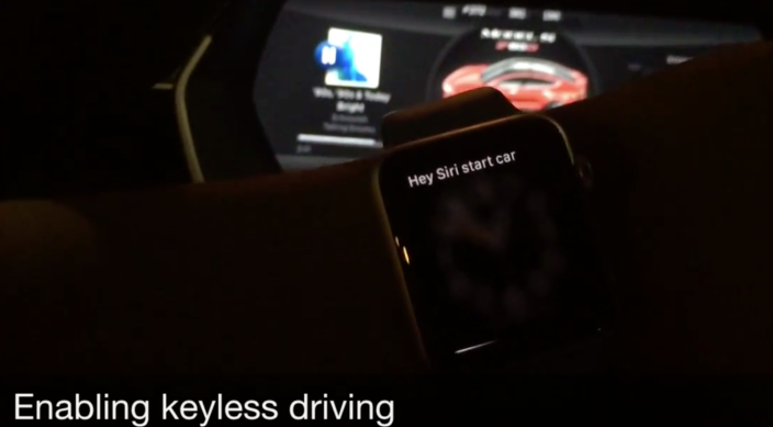 tesla apple watch