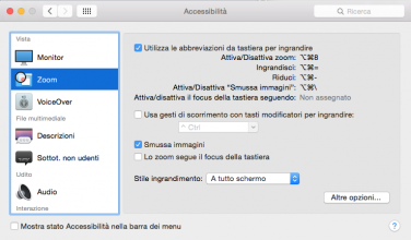 Come attivare lo zoom su Mac