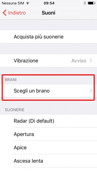 Come impostare una canzone come suoneria iPhone