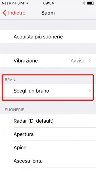 Come impostare una canzone come suoneria iPhone