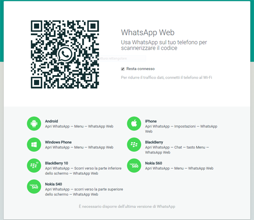 Come utilizzare whatsapp web
