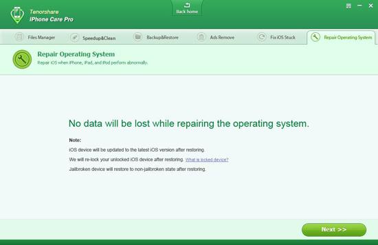 iPhone care repairing iOS