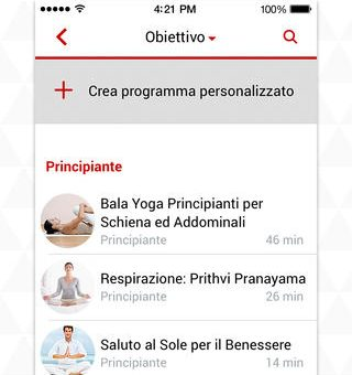 Yoga.com app per iPhone