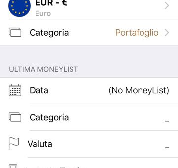 Money List app iPhone