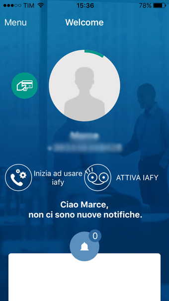 IAFY app per iPhone