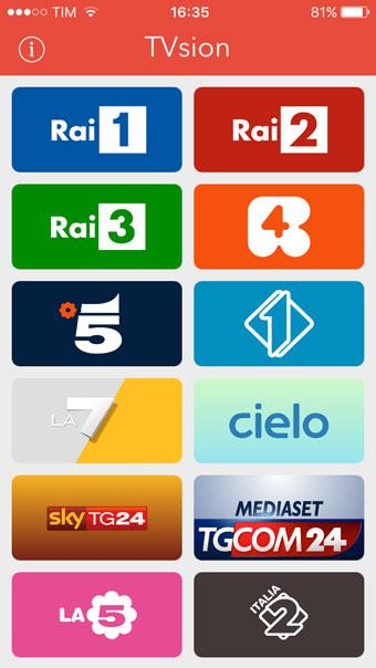 Recensione TVsion app iPhone iPad