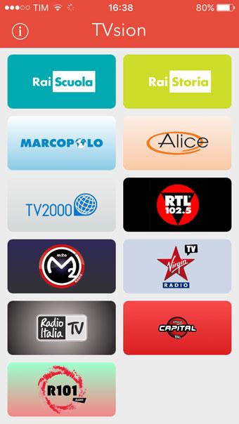Recensione TVsion app per iPhone iPad