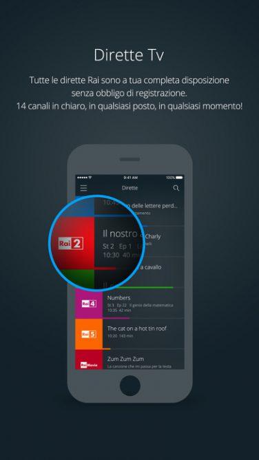 Guardare la Tv in mobilità con  RaiPlay e Mediaset