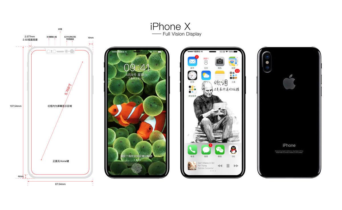 iphone 8 disegni del prototipo