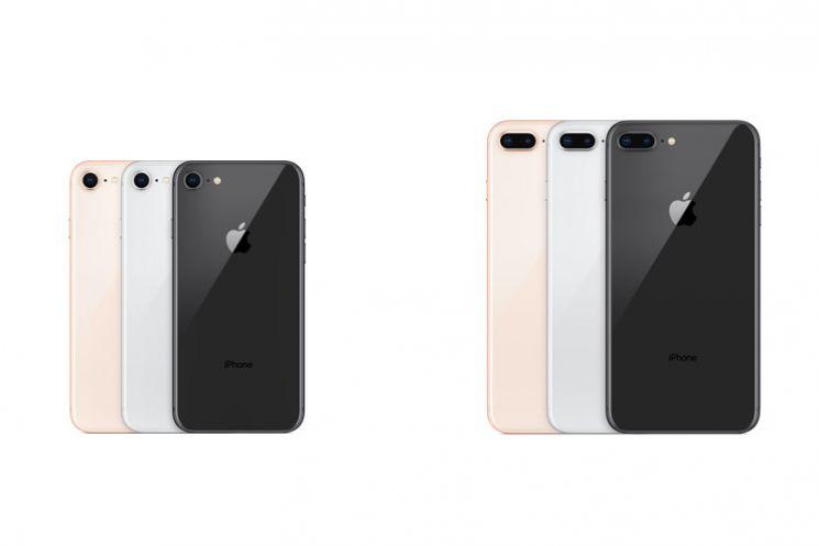 Colori degli iPhone 8 e iPhone 8 plus più grande