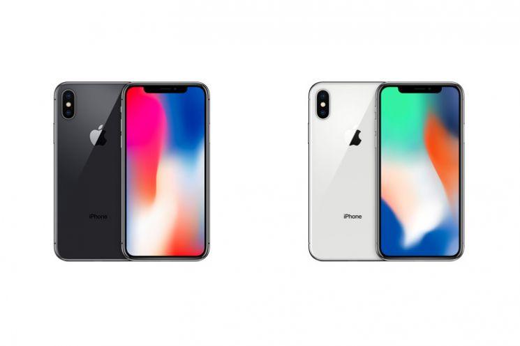 Le due colorazioni di iPhone X