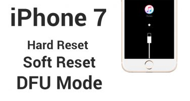 iPhone 7: hard e soft reset e DFU mode