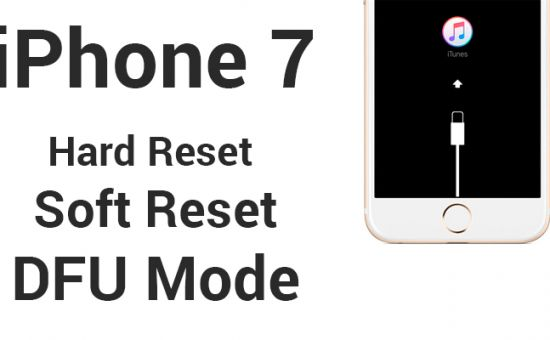 Hard soft Reset e dfu mode per iphone 7