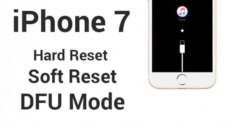 Hard soft Reset e dfu mode per iphone 7